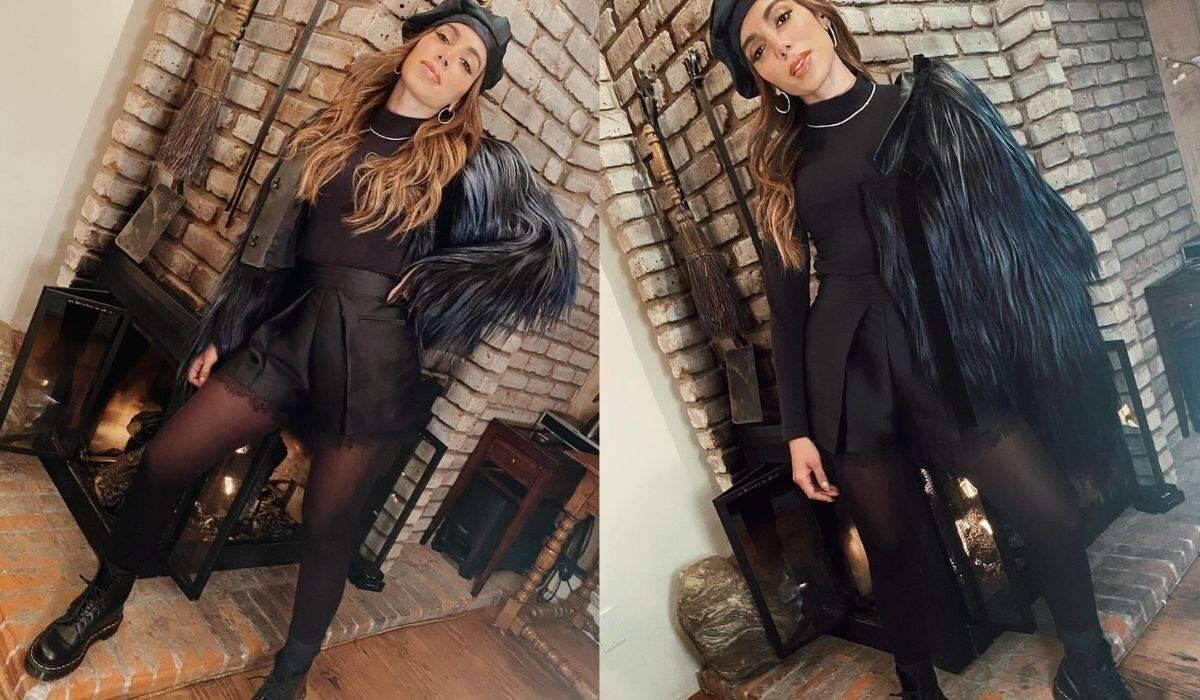 "Anitta posa em look todo preto e Maraisa baba: ""me empresta essa roupa?"""
