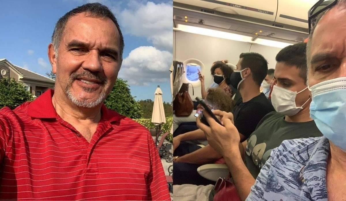 """Humberto Martins questiona aglomeração em avião e é criticado: """"normal nos ônibus, você que não vê"""""""