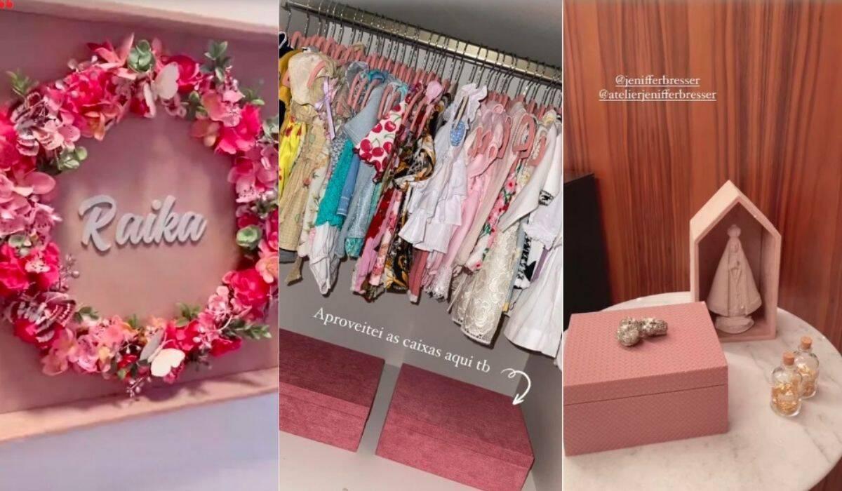 Romana Novais posta cliques da alta de Raika e exibe a decoração do quarto da caçula. (Foto: Reprodução/Instagram)