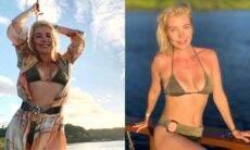 Luiza Possi curte passeio de barco durante viagem para a Bahia