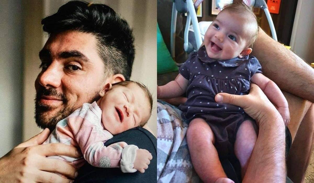"""Marcelo Adnet se derrete com clique da filha sorrindo: """"meu amor"""""""