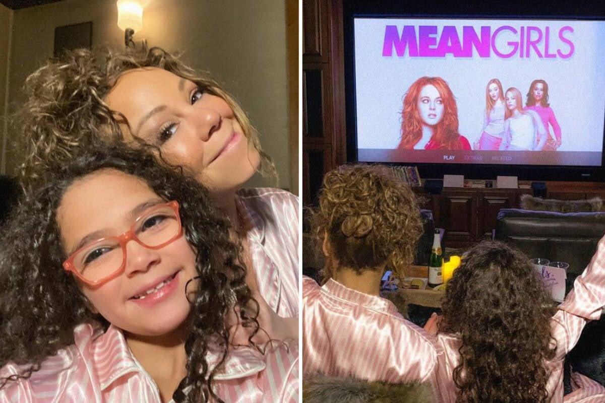 """Mariah Carey aproveita """"noite das meninas"""" com a filha"""