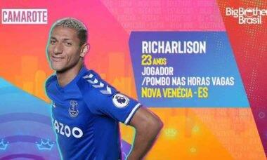 Internet 'seleciona' Richarlison pro BBB21 e jogador entra na onda. Foto: Reprodução Twitter