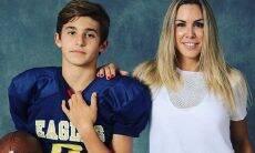 """Joana Prado celebra conquista do filho em jogo de futebol americano: """"muito orgulho"""""""