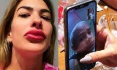 """Lore Improta brinca com Léo Santana sobre preenchimento labial: """"ele não gosta"""""""
