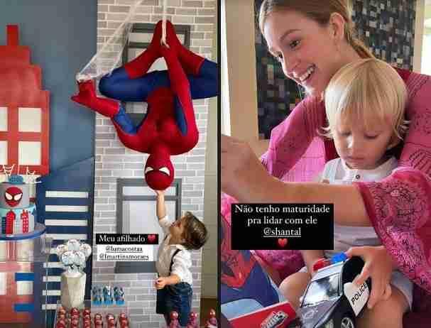 Marina Ruy Barbosa se derrete pelas crianças na festa de aniversário do afilhado (Foto: Reprodução/Instagram)