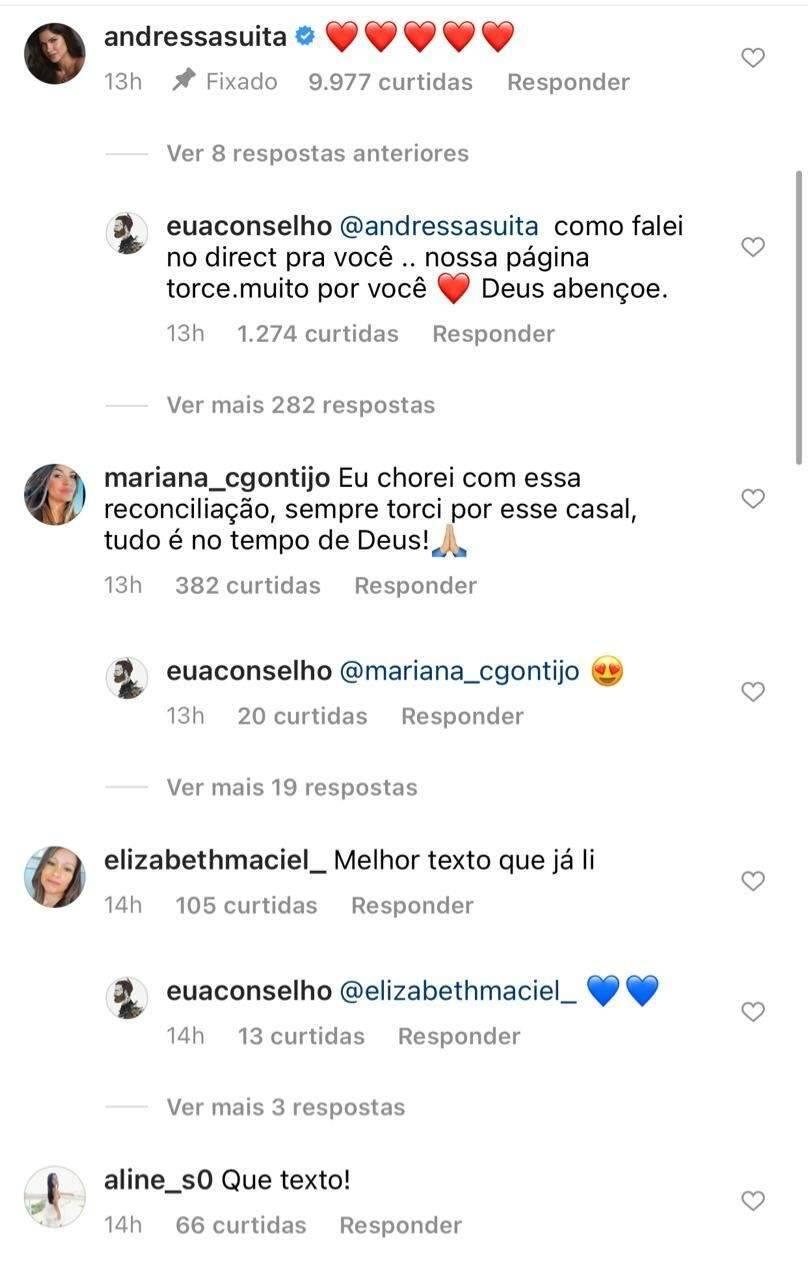 """Após ser vista com Gusttavo Lima, Andressa Suita comenta texto sobre reconciliação: """"amor é pra sempre"""". (Foto: Reprodução/Instagram)"""