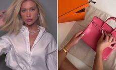 Flavia Pavanelli mostra nova bolsa grifada de R$ 120 mil