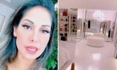 """Mayra Cardi explica porque tem dois closets: """"Um só de roupa de academia"""""""