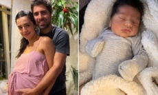 Gabriel Louchard e Natalia Paes dão as boas-vindas ao primeiro filho