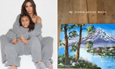 "Kim Kardashian exibe talento da filha, North West: ""Minha pequena artista"""