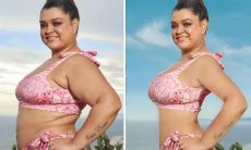 """Preta Gil posta antes e depois de retoques em foto de biquíni e reflete: """"Passei a me amar"""""""