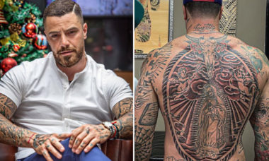 Felipe Titto fecha as costas com tatuagem e impressiona seguidores