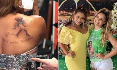 """Mãe de Lexa faz tatuagem em homenagem à filha: """"Minha Smurfette"""""""