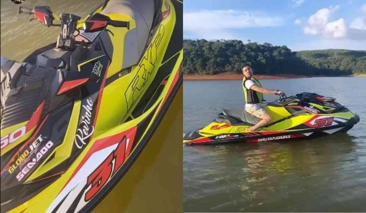 """Kevinho exibe barco e jet ski e incentiva fãs a não desistirem dos sonhos: """"a quebrada venceu"""" (Foto: Reprodução/Instagram)"""