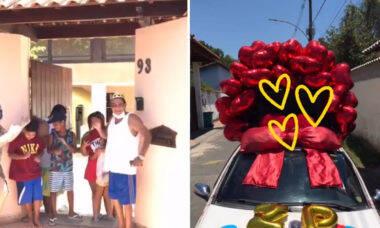 Zeca Pagodinho é surpreendido com carro de som em seu aniversário; veja