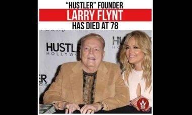 Fundador da revista 'Hustler', Larry Flynt morre aos 78 anos. Foto: Reprodução Instagram