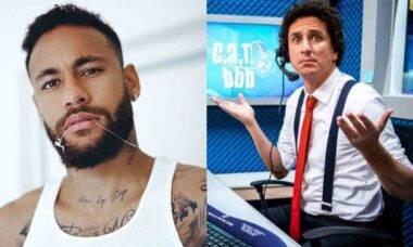 """Neymar brinca com Rafael Portugal sobre participar do BBB: """"a mala tá pronta"""""""