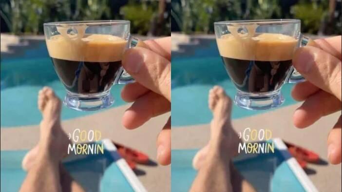 Gafe! Ator de 'Meninas Malvadas' mostra partes íntimas sem querer ao fotografar xícara de café (Foto: Reprodução/Globo)