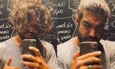 Caio Castro posa em novo clique exibindo o cabelo e ganha elogio de Grazi Massafera