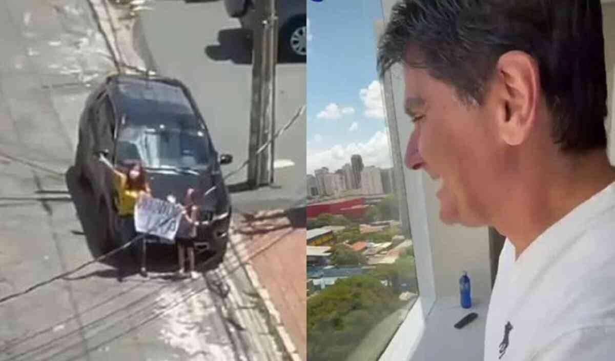 """Internado com Covid, César Filho ganha homenagem da família pela janela do hospital: """"virando cura"""""""