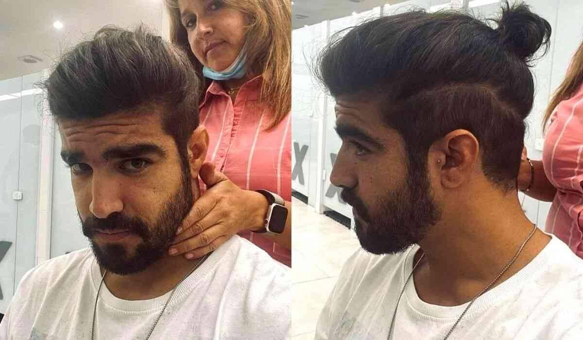 """Caio Castro posa no cabeleireiro e exibe novo visual: """"cortei"""""""