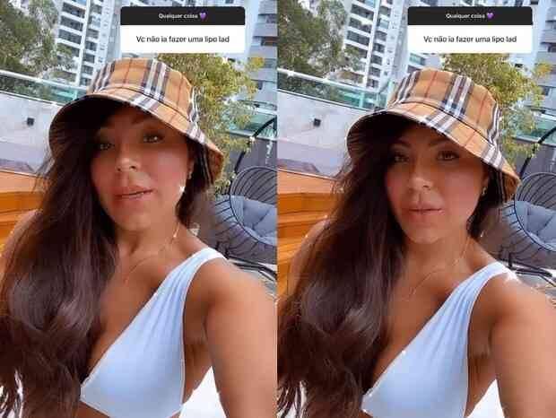 """Andressa Miranda revela ter desistido de fazer Lipo LAD: """"risco de vida só para estar dentro do padrão"""" (Foto: Reprodução/Instagram)"""