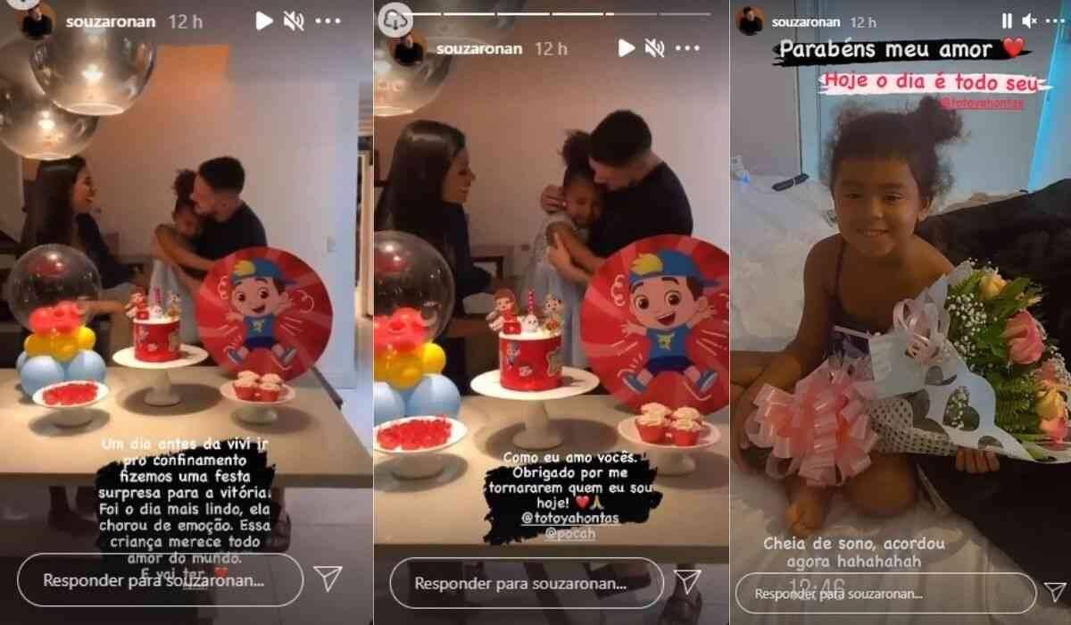 """Namorado de Pocah do BBB 21 faz surpresa de aniversário à enteada: """"te amo pra sempre"""" (Foto: Reprodução/Instagram)"""