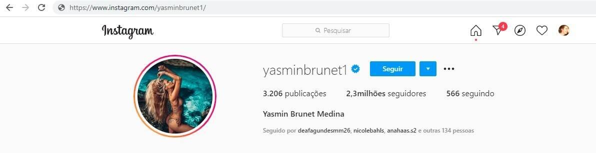Após casarem no Havaí, Yasmin Brunet passa a usar o sobrenome de Gabriel Medina (Foto: Reprodução/Instagram)
