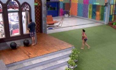 BBB 21: Gilberto e Juliette espiam Rodolffo tomando banho pelado