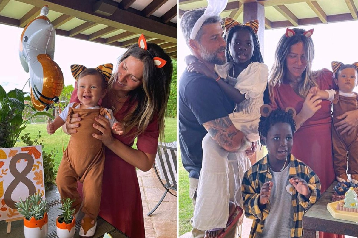 Giovanna Ewbank e Bruno Gagliasso dão festa temática para celebrar os 8 meses de Zyan