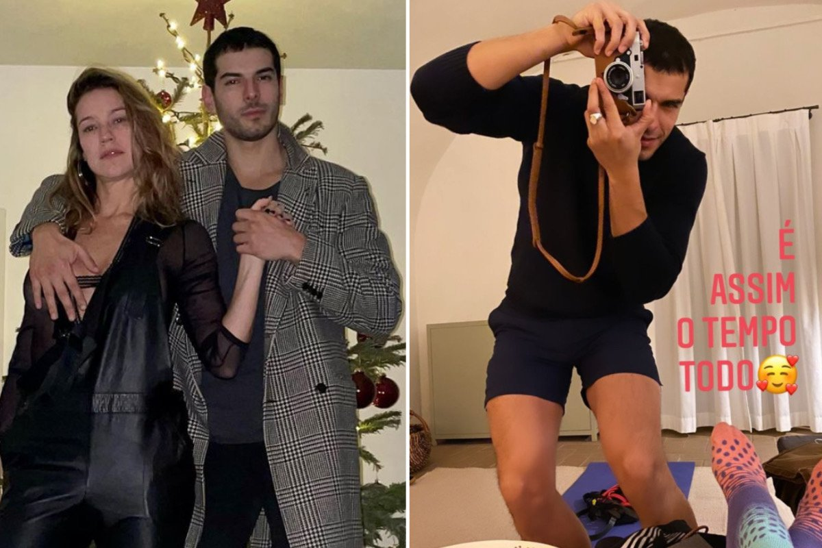 """Luana Piovani mostra o namorado fotografando: """"Assim o tempo todo"""""""