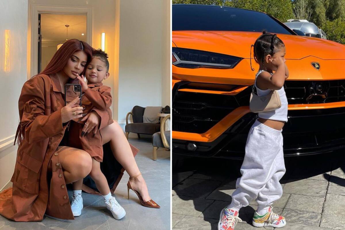 Stormi, filha de Kylie Jenner, ostenta bolsa de R$ 4,4 mil em clique