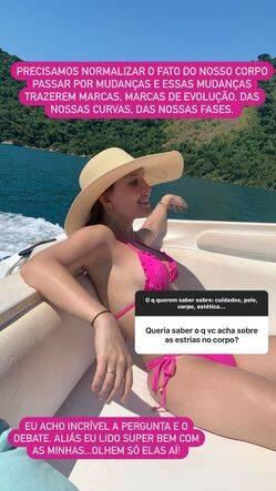 Larissa Manoela exibe estrias em clique de biquíni: 'marcas de evolução' (Foto: Reprodução/Instagram)