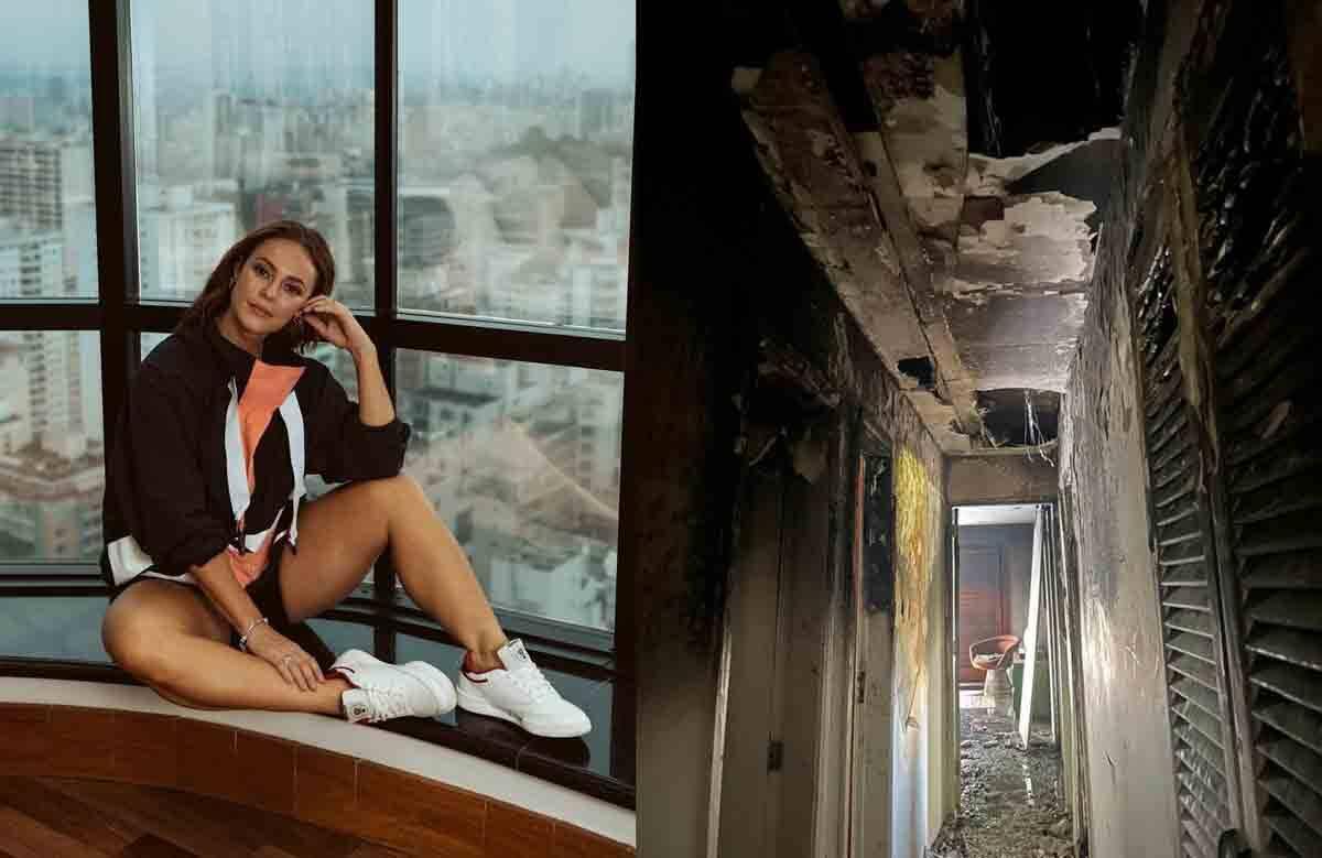 Casa de Paolla Oliveira pega fogo após pane  elétrica. Foto: reprodução Instagram