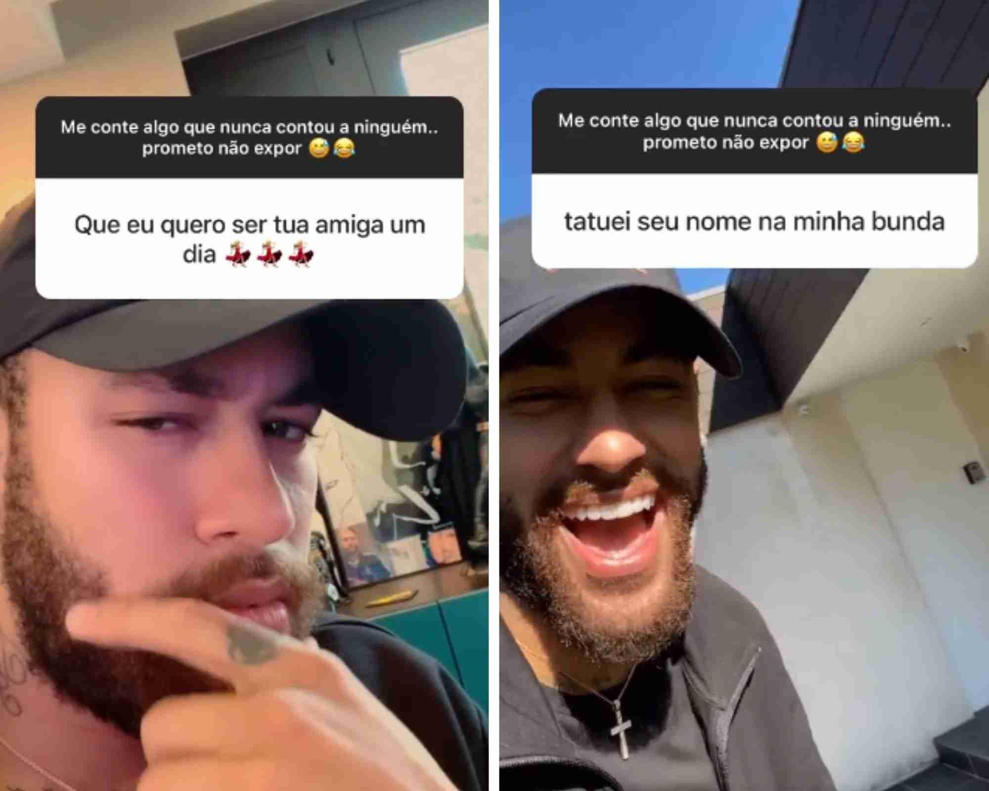 """Neymar rebate pedido de amizade de seguidora: """"amiga mesmo ou interesseira?"""" (Foto: Reprodução/Instagram)"""