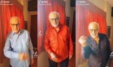 """Aos 87 anos, Francisco Cuoco investe nas redes sociais vira """"digital influencer"""". Foto: reprodução TikTok"""