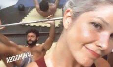 Samara Felippo posa em clique durante treino com o namorado: 'tá pago'