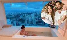 Alok grava Romana amamentando Raika na banheira e exibe vista do apartamento de luxo