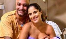 Camilla Camargo posta foto intima do parto da filha Julia: 'me deram força'
