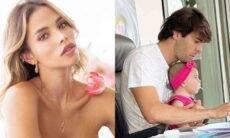 Carol Dias exibe flagra fofo de Kaká e filha: 'tanto amor que sinto'