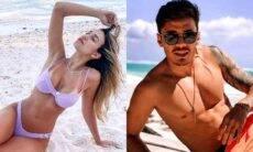 Casal Bruna Santana e Raphael Veiga curtem viagem ao México: 'paraíso'