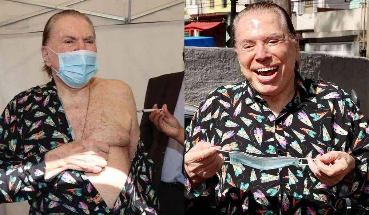 Imunizado! Silvio Santos toma a segunda dose da vacina contra covid-19