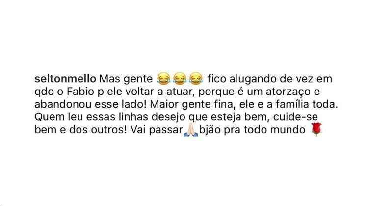 BBB 21: Fiuk revela que Selton Mello liga para Fábio Jr bêbado (Foto: Reprodução/Instagram)