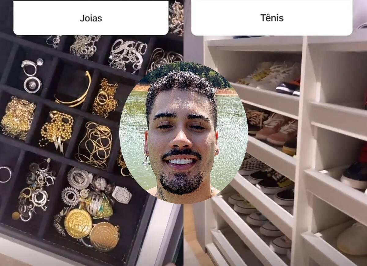 Kevinho exibe coleção de joias, tênis e óculos do seu closet particular (Foto: Reprodução/Instagram)