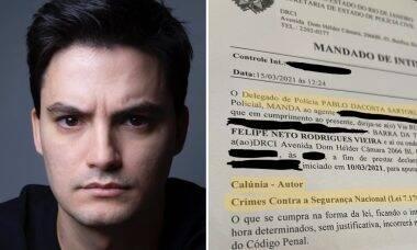 """Felipe Neto recebe intimação por crime contra segurança nacional: """"Eles querem que eu tenha medo"""""""