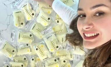 Fernanda Machado doa amostras de leite materno para pesquisas após vacina contra a Covid-19