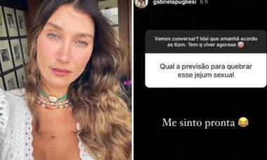 """Gabriela Pugliesi brinca sobre 'jejum sexual' após separação: """"Me sinto pronta"""""""
