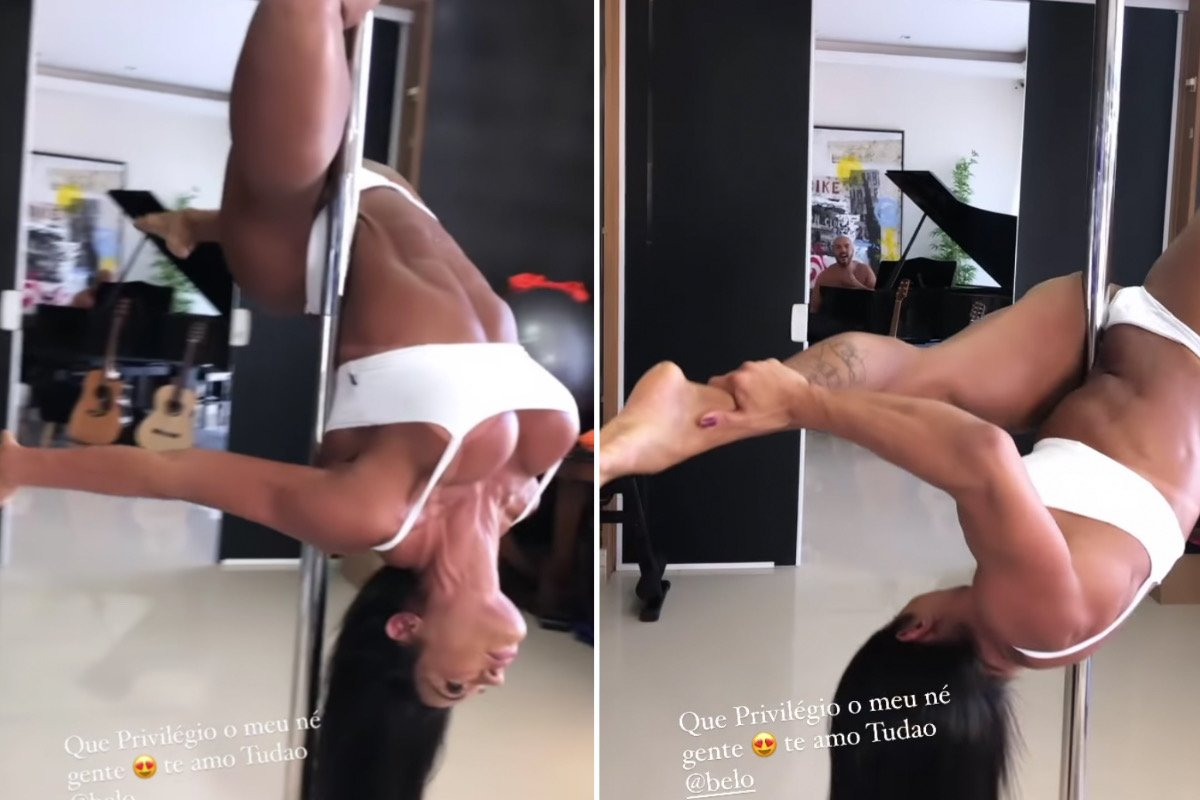 "Gracyanne Barbosa mostra aula de pole dance ao som de Belo: ""Privilégio"""