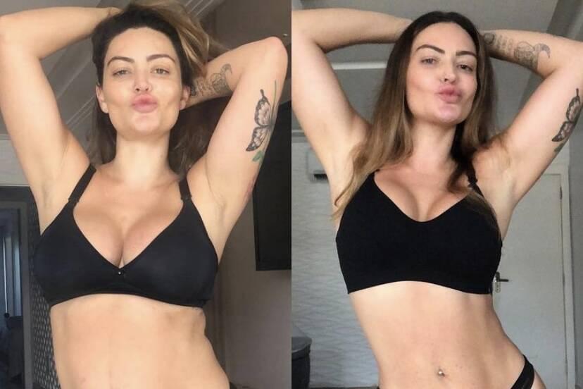 """Laura Keller mostra antes e depois de perder 16 quilos: """"Saia da zona de conforto"""""""